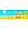 happy sunny summer day at beach vector image