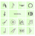 14 musical icons vector image vector image