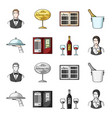 a tray with a cloth check and cash a bottle of vector image vector image