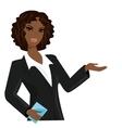 african american business woman cartoon vector image