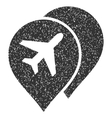 Airport Markers Icon Rubber Stamp vector image vector image