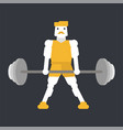athlete doing deadlift exercise vector image vector image