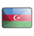 azerbaijan flag on white background vector image vector image