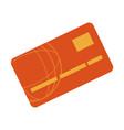 bank card credit or debit finance icon vector image vector image