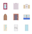 Barrier icons set cartoon style vector image vector image