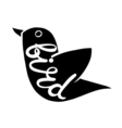 Bird with the inscription on the body vector image vector image