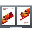 brochure template layout design corporate vector image vector image