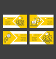 call center business card people operator vector image