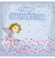 Card for your design with fairy vector image