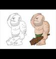 cartoon clip art a tough vector image vector image