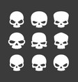 cartoon skulls icons vector image vector image