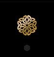 celtic ornament rosette pattern gold tattoo vector image
