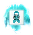 cervical cancer support emblem vector image vector image