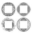circular decorative geometric ethnic frame vector image vector image