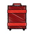 color crayon stripe image travel baggage with vector image vector image