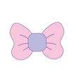 cute riibon bow decoration design vector image vector image