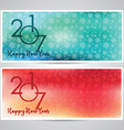 decorative happy new year backgrounds vector image vector image