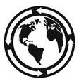 earth icon simple style vector image vector image