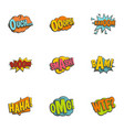 emotions in speech bubble icons set flat style vector image