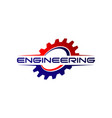 engineering gear logo design symbol vector image vector image