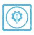 Engineering Icon Rubber Stamp vector image vector image
