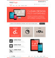 front page web design template vector image