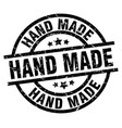 hand made round grunge black stamp vector image vector image