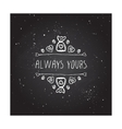 handdrawn badge for Saint Valentines day vector image vector image