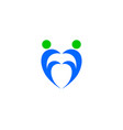 heart people logo vector image vector image