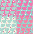 Hearts seamless patterns set
