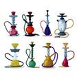 hookah tobacco hooka smoke pipe arabic vector image