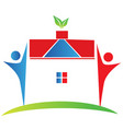 house real estate and people symbol vector image
