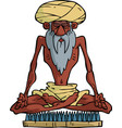 indian yogi vector image