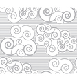 Japanese patterns with clouds vector image vector image