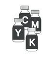 jet printer ink cmyk cartridges printing vector image