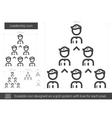 Leadership line icon vector image vector image