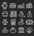 lines icon set bitcoin crypto vector image