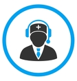 Medical Emergency Manager Rounded Icon vector image vector image