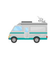 mobile broadcasting car side view truck with vector image