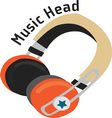 Music Head vector image vector image