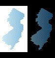 new jersey state map hexagon scheme vector image vector image