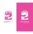 package and hands logo combination Shop vector image