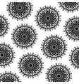pattern monochrome abstract flower mandala vintage vector image vector image