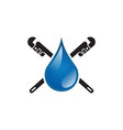 plumbing icon design template isolated vector image
