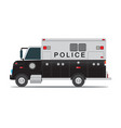 police car for transportation of criminals in vector image