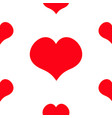 red heart seamless pattern happy valentines day vector image