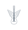 rock guitar acoustic music thin lines icon