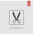 Scissors icon concept for vector image vector image