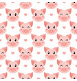 seamless cute piglet pattern vector image