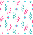seamless pattern of abstract plants with hearts vector image vector image